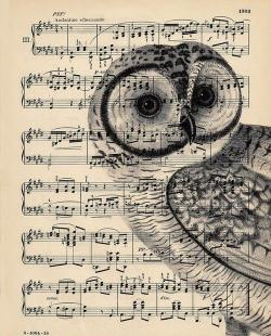 Drawn music paper