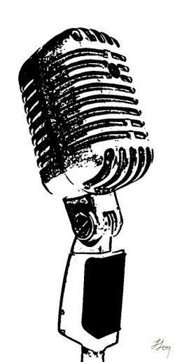 Drawn music radio microphone