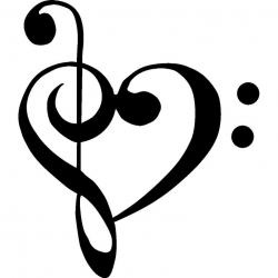 Drawn music heart