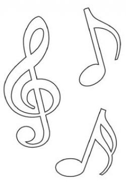 Drawn music notes stencil
