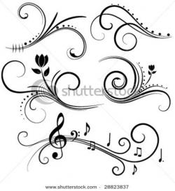 Drawn music swirl