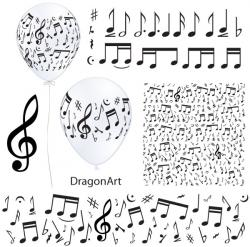 Drawn music notes vector free download