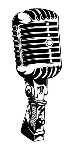 Drawn microphone mic