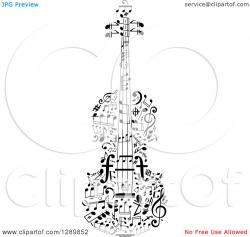 Drawn violinist all white
