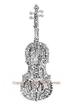 Drawn musician violinist