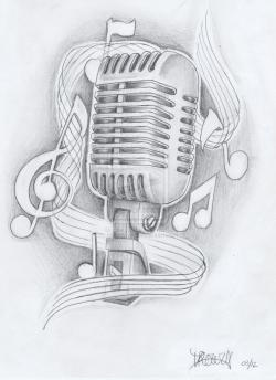 Drawn microphone sketch