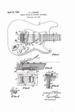 Drawn musician 50's