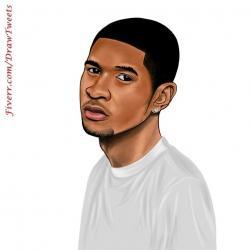 Drawn musician avatar