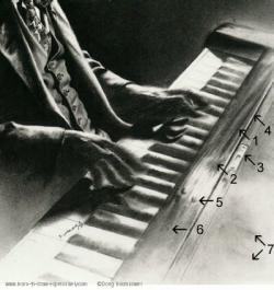 Drawn musician piano