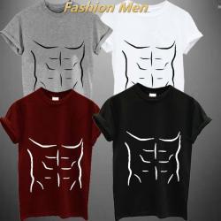 Drawn shirt muscle
