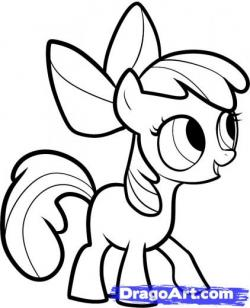 Drawn my little pony apple bloom
