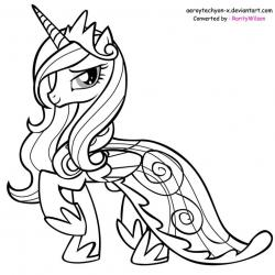 Drawn my little pony black and white