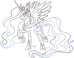 Drawn my little pony celestia