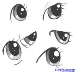 Drawn eyeball cartoon