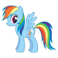 My Little Pony clipart rainbow dash