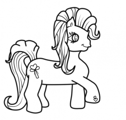 Drawn my little pony line art