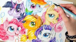 Drawn my little pony mane