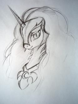 Drawn my little pony pencil drawing