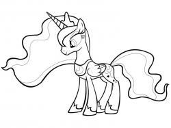 Drawn my little pony princess