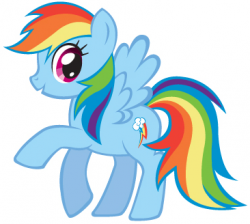 Drawn my little pony rainbow dash