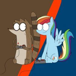 Drawn my little pony regular show