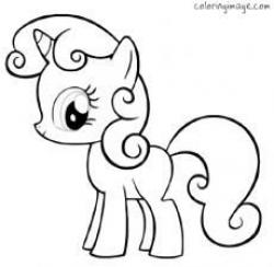 Drawn my little pony simple