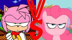 Drawn my little pony sonic amy