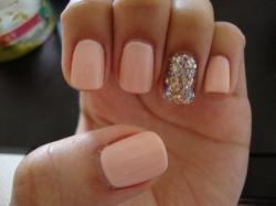 Drawn nail glitter