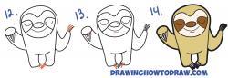 Drawn sloth cartoon
