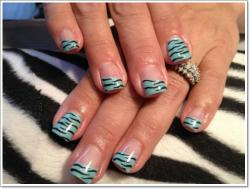 Drawn nail zebra
