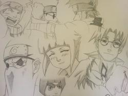Drawn naruto chunin exam