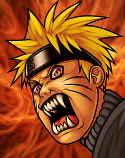 Drawn naruto demon anime