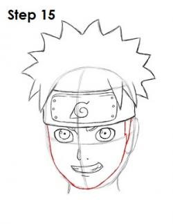 Drawn naruto face