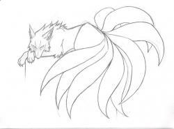 Drawn naruto fox