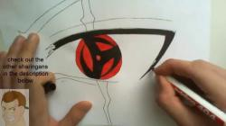 Drawn naruto kakashi eye