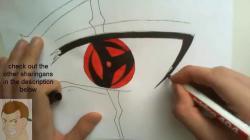 Drawn naruto kakashi eye