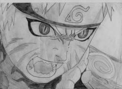 Drawn naruto nine tailed
