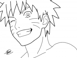 Drawn naruto outline