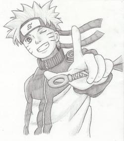 Drawn naruto pencil sketch