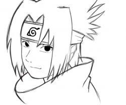 Drawn naruto sasuke