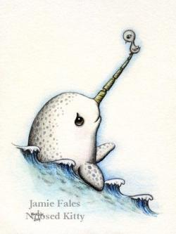 Drawn narwhal badass