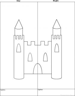 Drawn palace simple