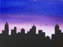 Drawn skyline