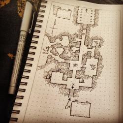 Drawn map lotr