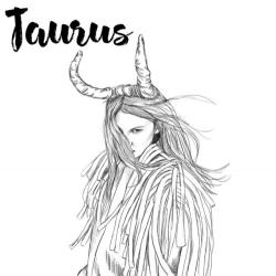 Drawn night taurus