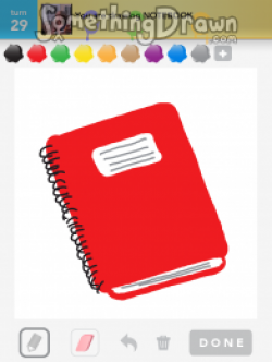 Drawn notebook
