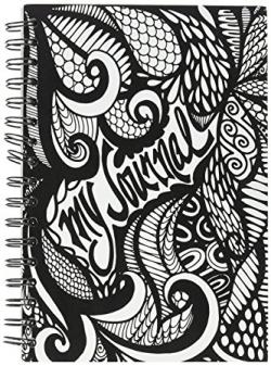 Drawn notebook black and white