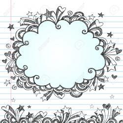 Drawn paper doodle