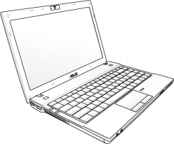 Drawn notebook laptop computer