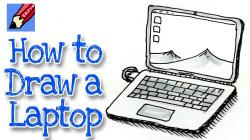 Drawn computer laptop